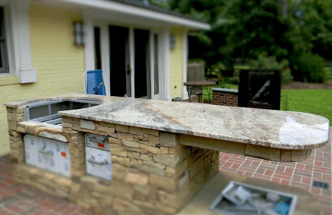 outdoor granite bbq in lexington sc