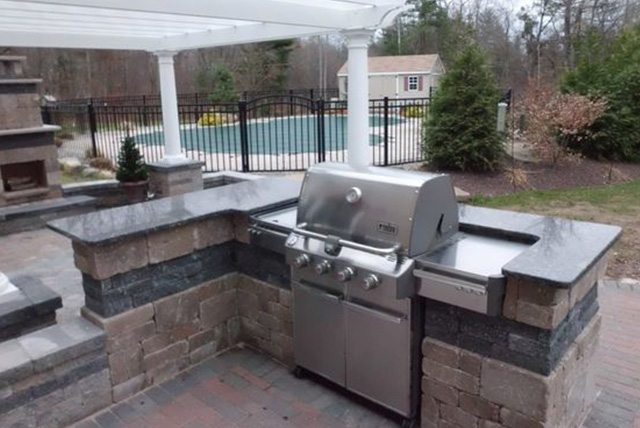 outdoor kitchen tile affordable quality marble amp granite outdoor kitchen 1309