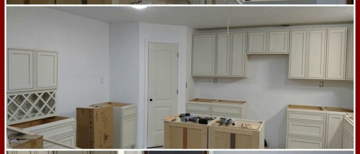 Cabinets countertops and tile